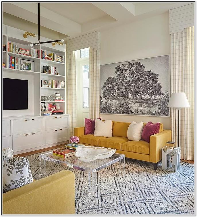 Mustard Yellow Couch Living Room