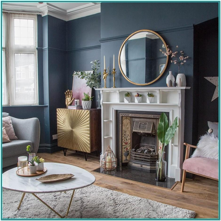 Navy Blue And Gold Living Room Accessories