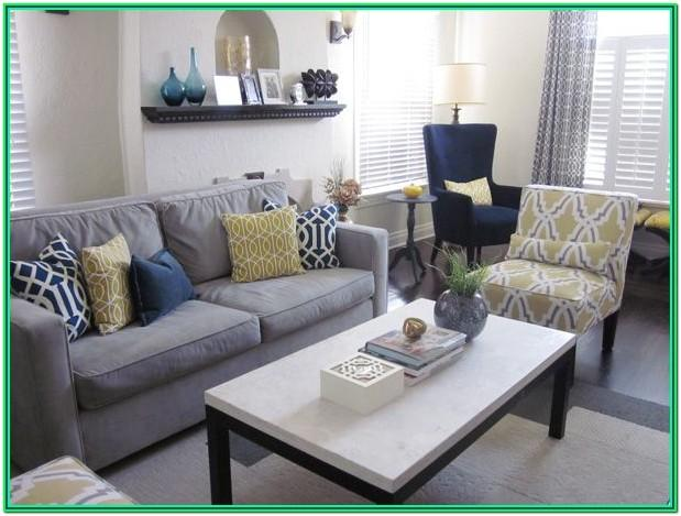 Navy Blue And Gray Living Room Decor