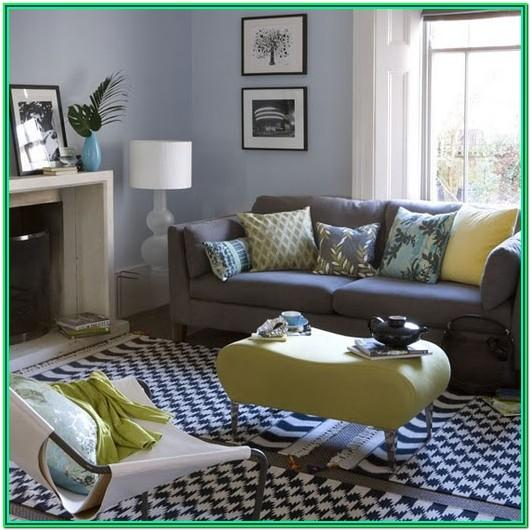 Navy Blue And Gray Living Room