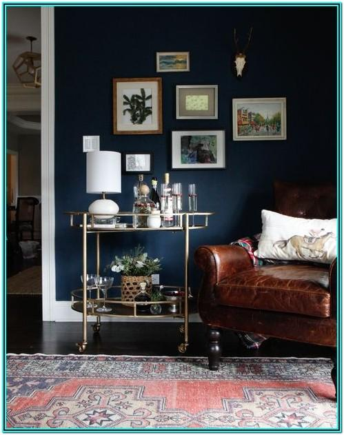 Navy Blue And Rose Gold Living Room Ideas