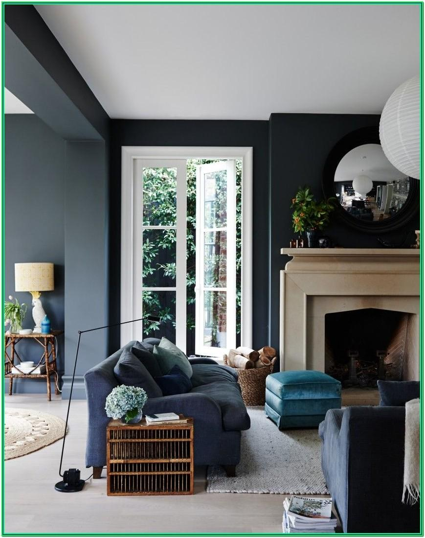 Navy Blue White And Gray Living Room