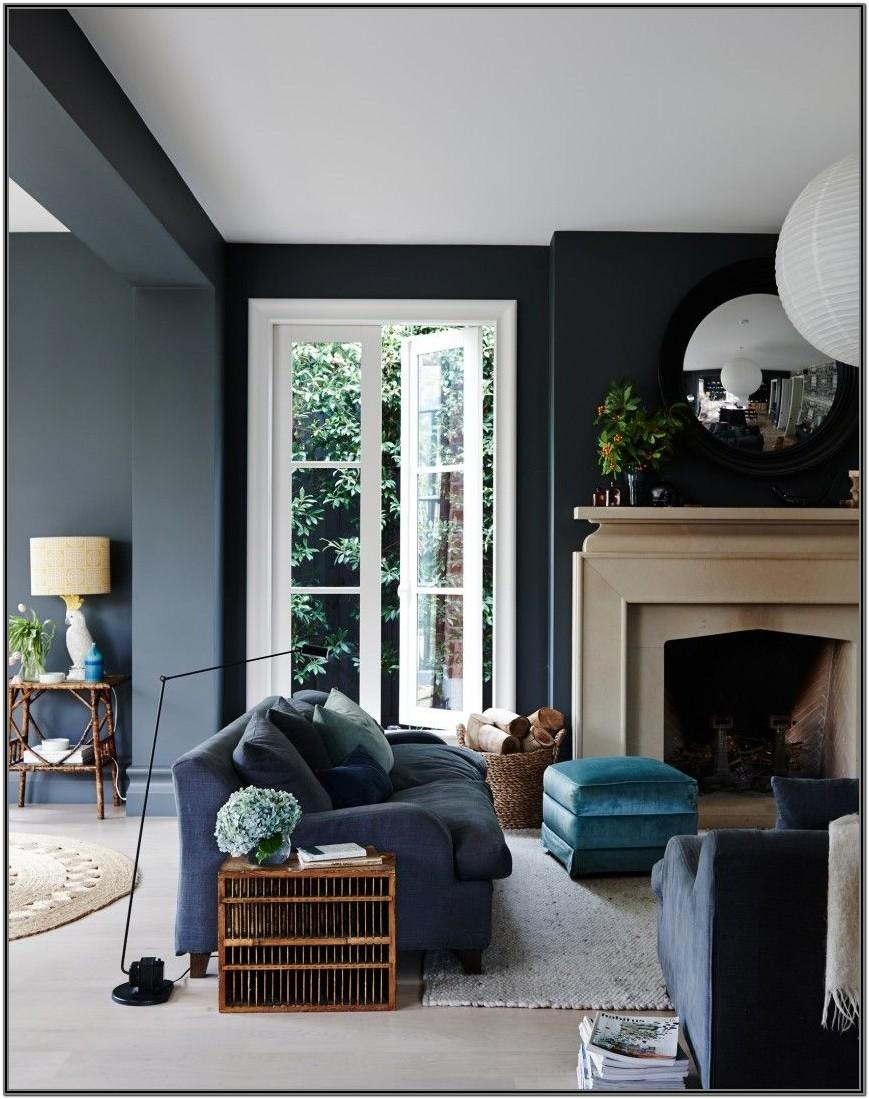 Navy Blue White And Grey Living Room