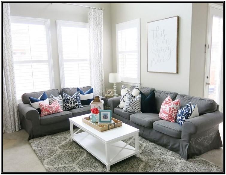 Navy Gray And Turquoise Living Room