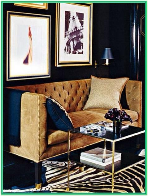 Navy Silver And Gold Living Room