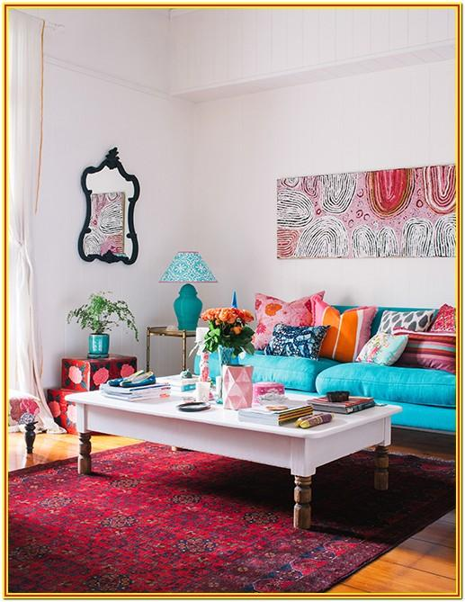 Orange And Teal Living Room Ideas