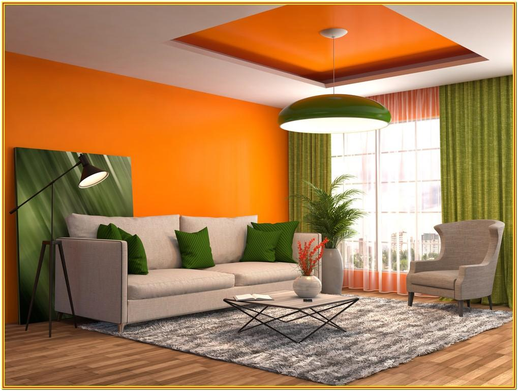 Orange Walls Living Room Designs
