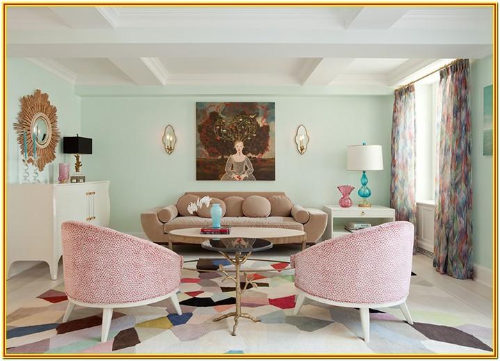 Pastel Green Mint Green Living Room