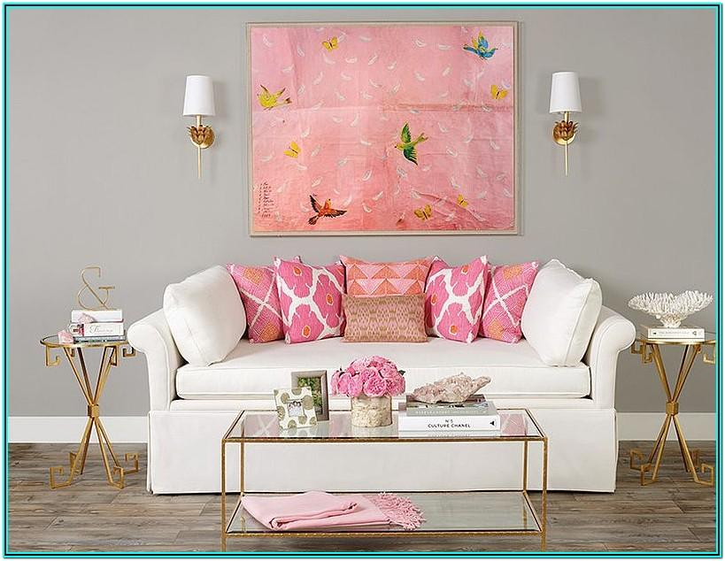 Pink And Gold Living Room Ideas