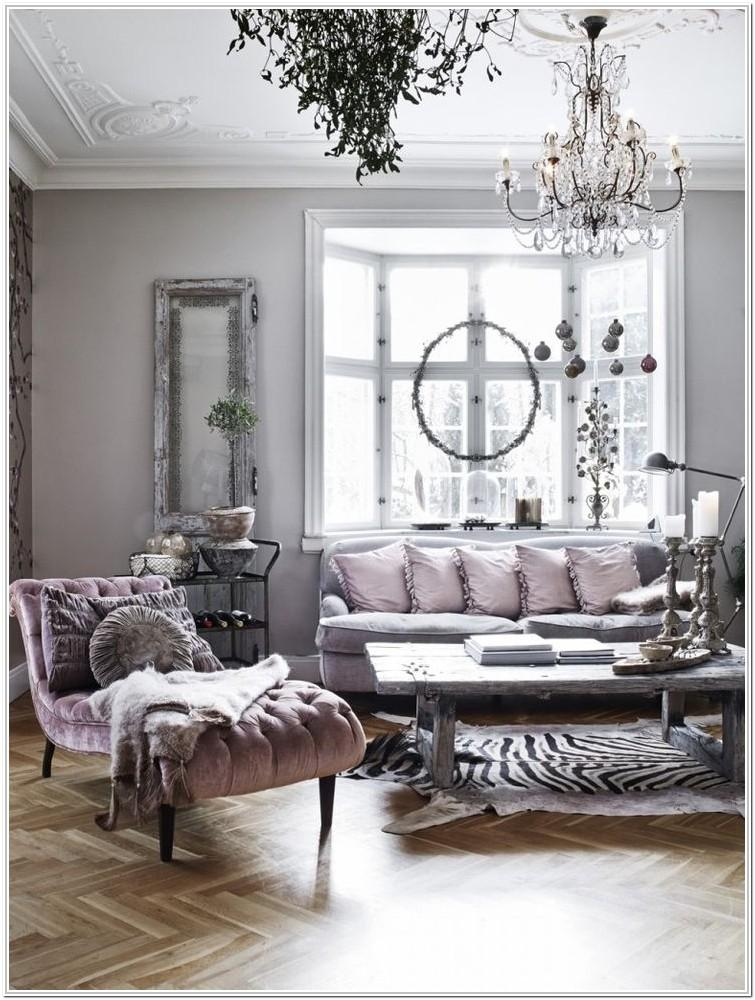 Pink Black And Gray Living Room