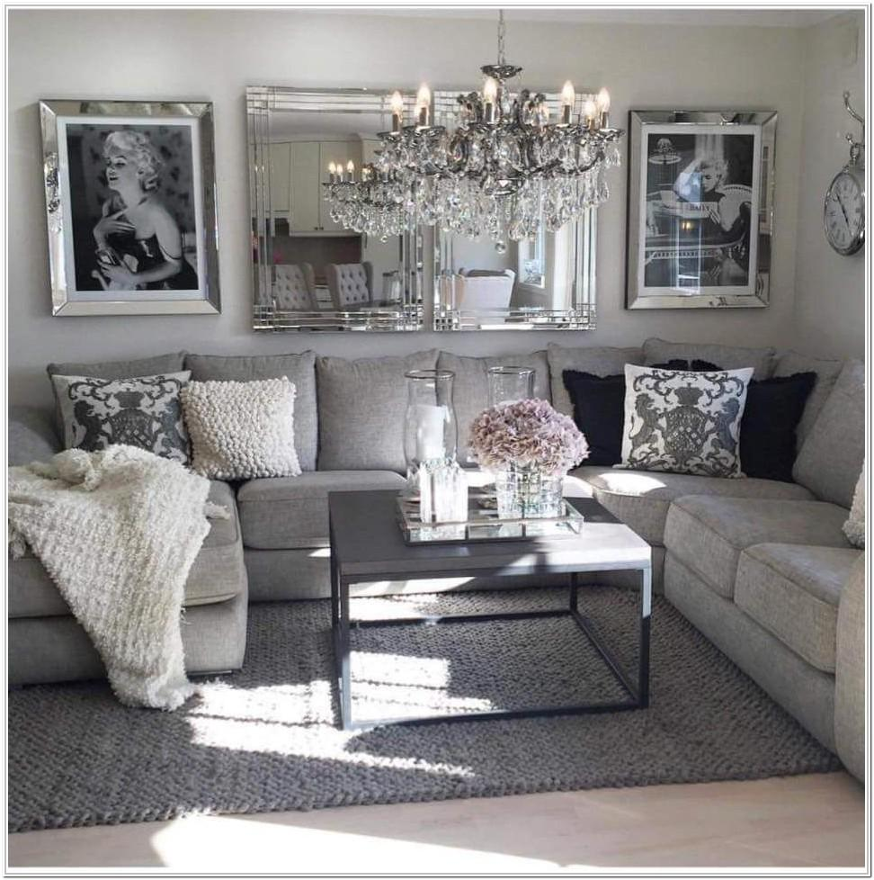 Pink White And Gray Living Room