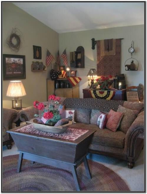 Primitive Country Decorating Ideas For Living Rooms