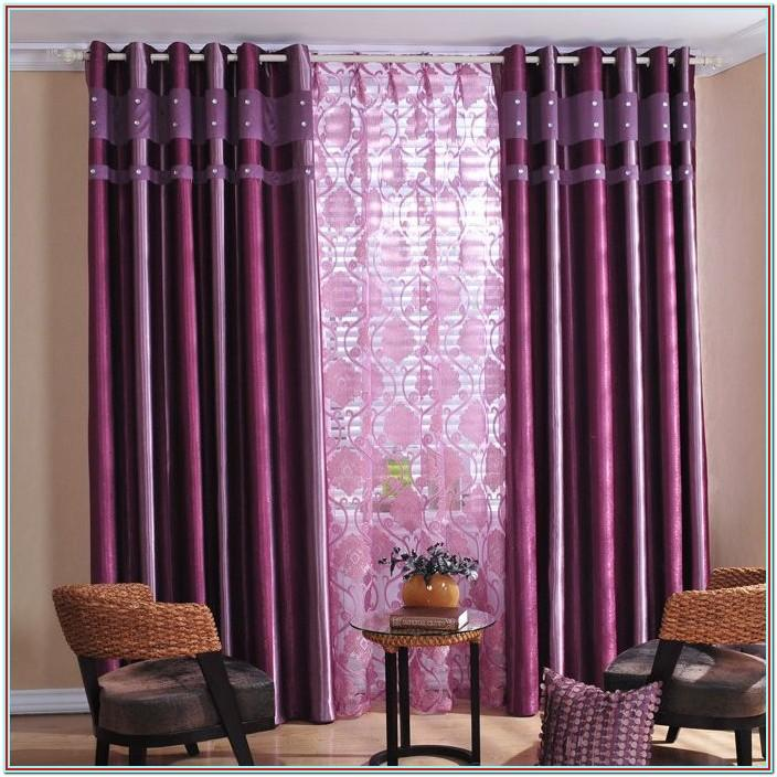 Purple And White Curtains For Living Room