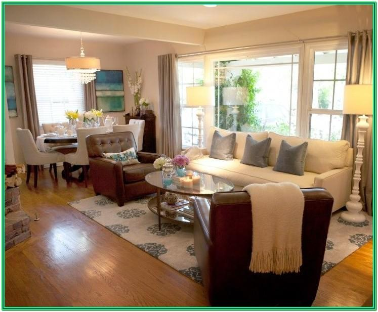 Rectangle Small Space Small Living Room Dining Room Combo