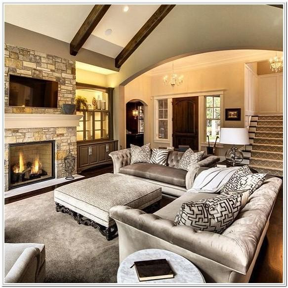 Rectangular Living Room Layout With Fireplace And Tv