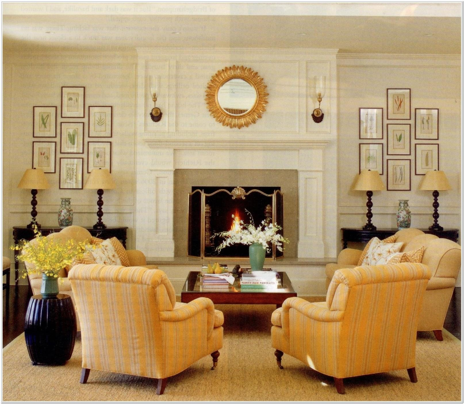 Rectangular Living Room Layout With Fireplace