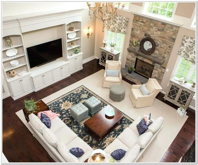 Rectangular Living Room Layout With Sectional