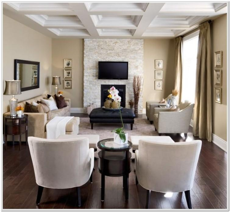 Rectangular Living Room Layout With Tv