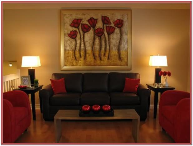 Red And Brown Living Room Curtains