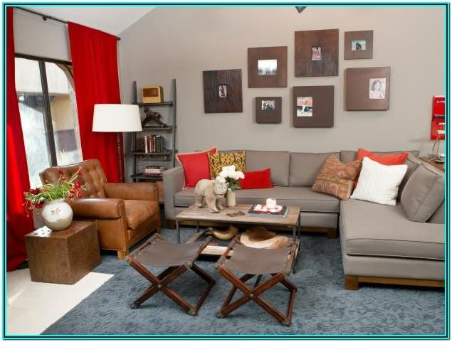 Red And Grey Curtains For Living Room