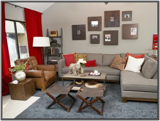 Red And Grey Living Room Decor Ideas