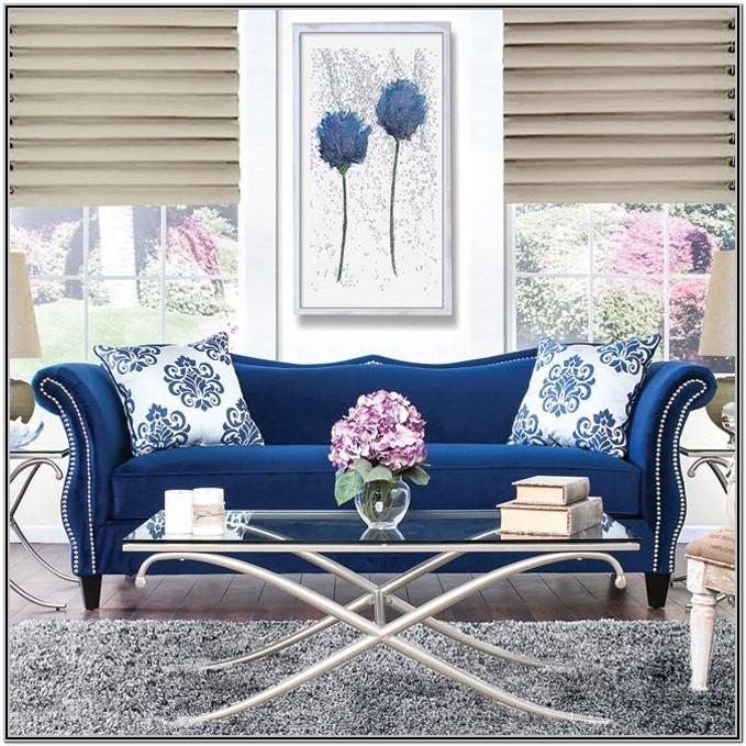 Royal Blue And Silver Living Room Decor