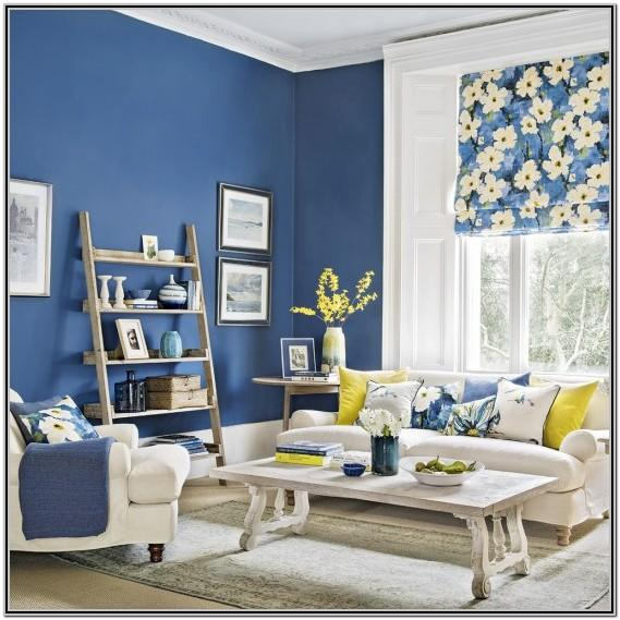Royal Blue And Yellow Living Room Decor