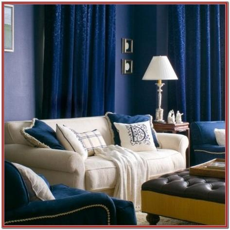 Royal Blue Living Room Curtains