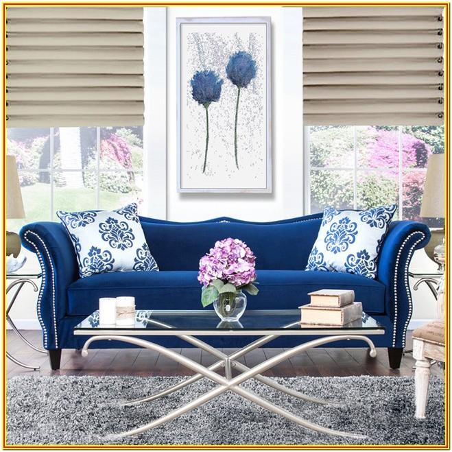 Royal Blue Living Room Set