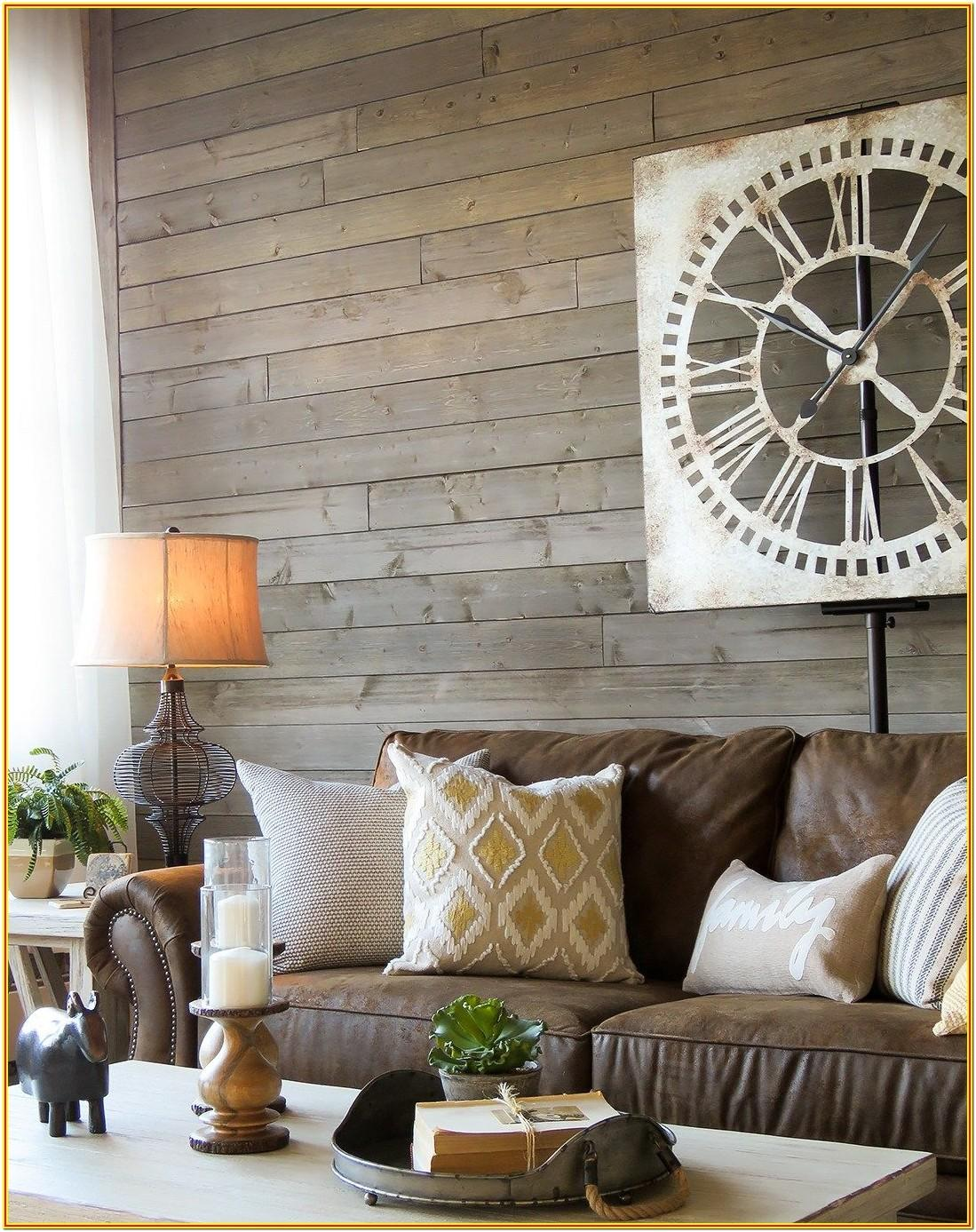 Rustic Dark Grey Couch Living Room