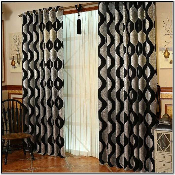 Silver And Black Curtains For Living Room