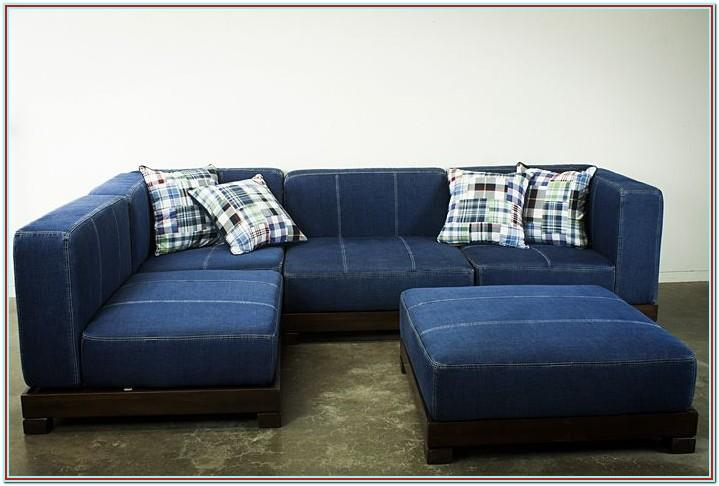 Simmons Dawson Denim Living Room Sectional