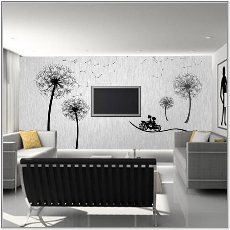 Simple Wall Mural Ideas For Living Room