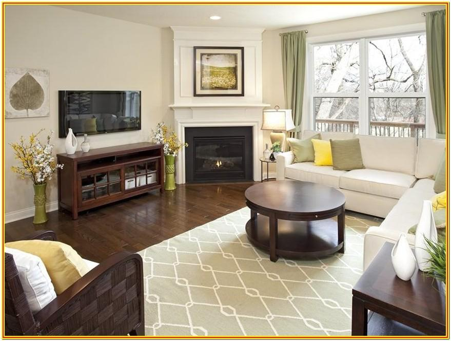 Small Living Room Layout With Corner Fireplace