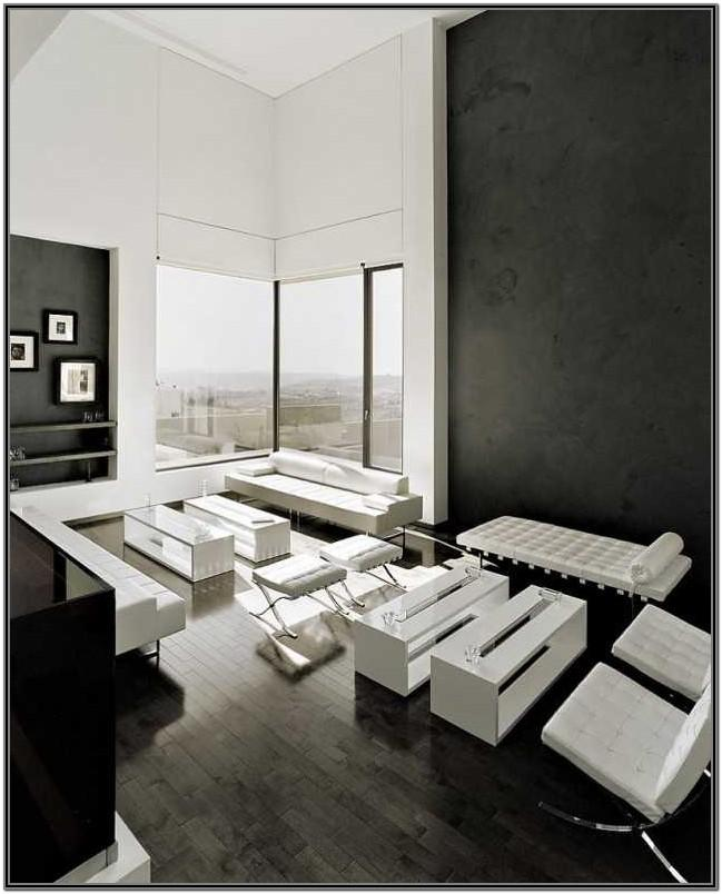 Small Modern Black And White Living Room