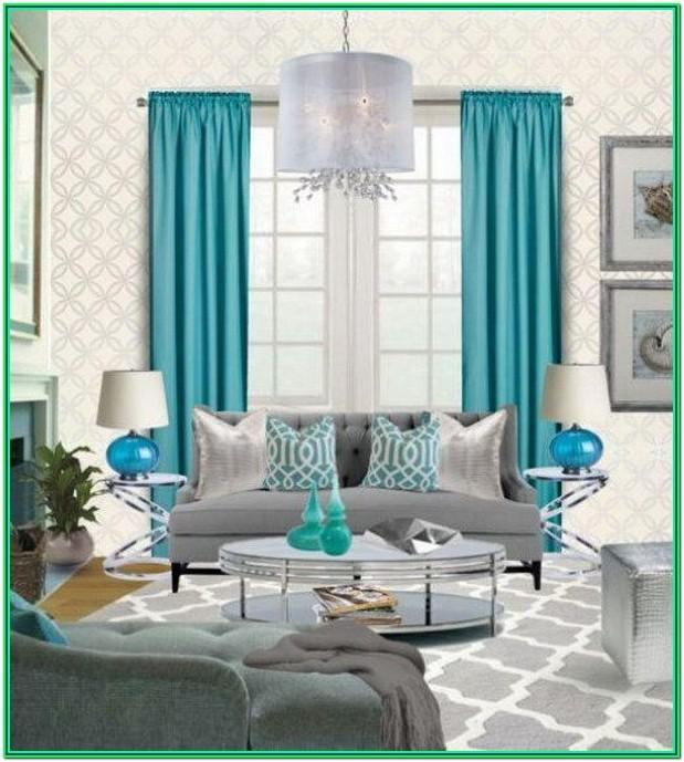 Teal And Grey Living Room Decorating Ideas