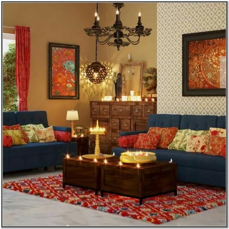 Traditional Living Room Designs India