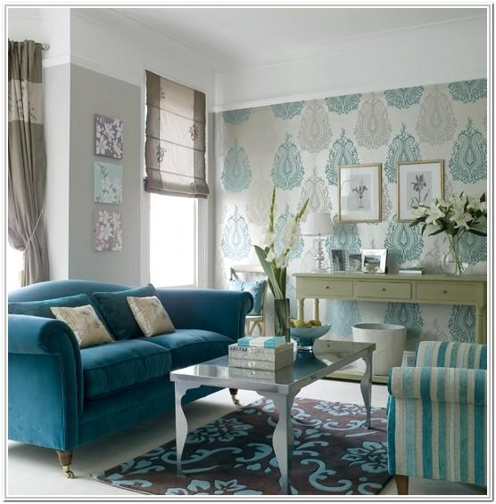 Turquoise Accent Grey And Turquoise Living Room