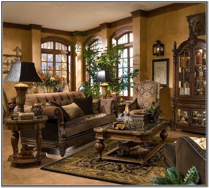 Tuscan Mediterranean Style Living Room