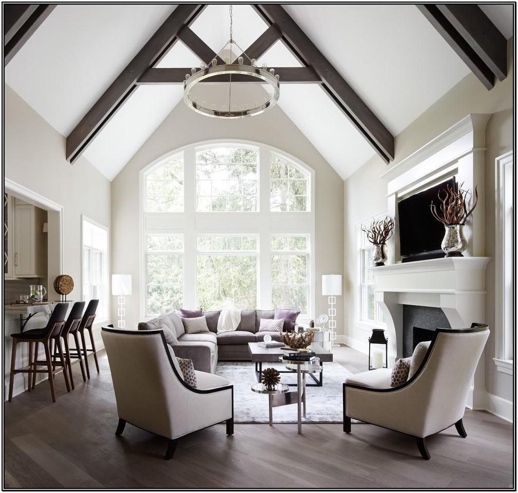 Vaulted Ceiling Living Room Lighting Ideas