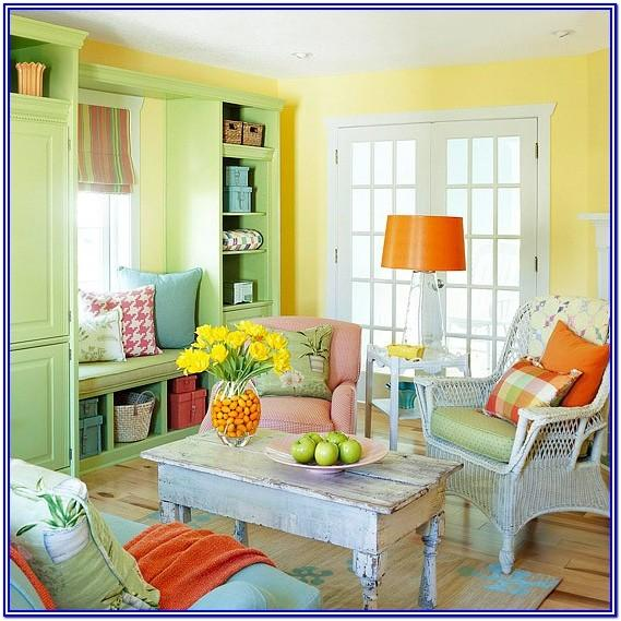 Wall Bright Colorful Living Room Ideas