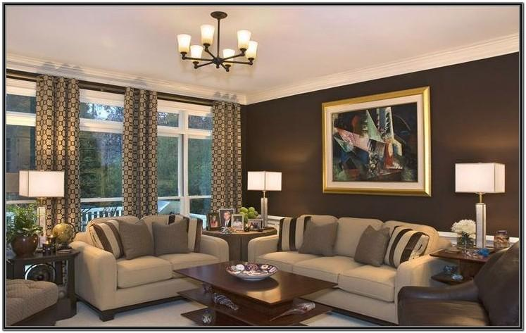 Wall Living Room Paint Ideas With Brown Furniture