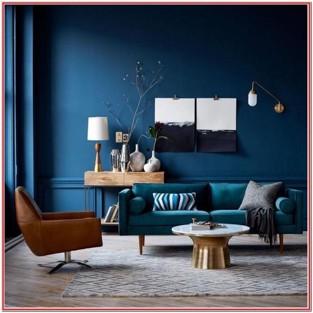 Warm Blue Living Room Colors