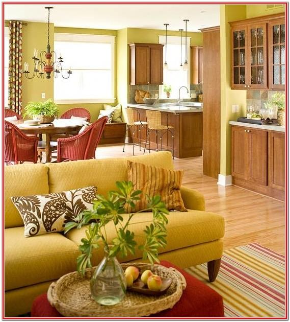Warm Yellow Brown And Yellow Living Room
