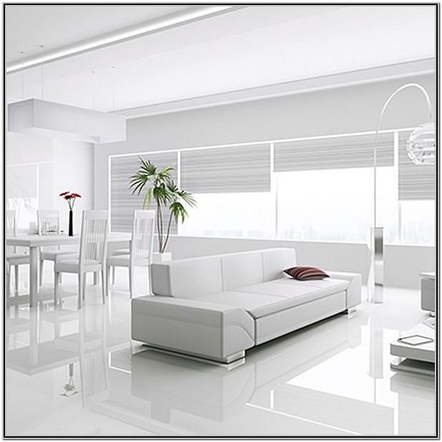 White Floor Living Room Ideas