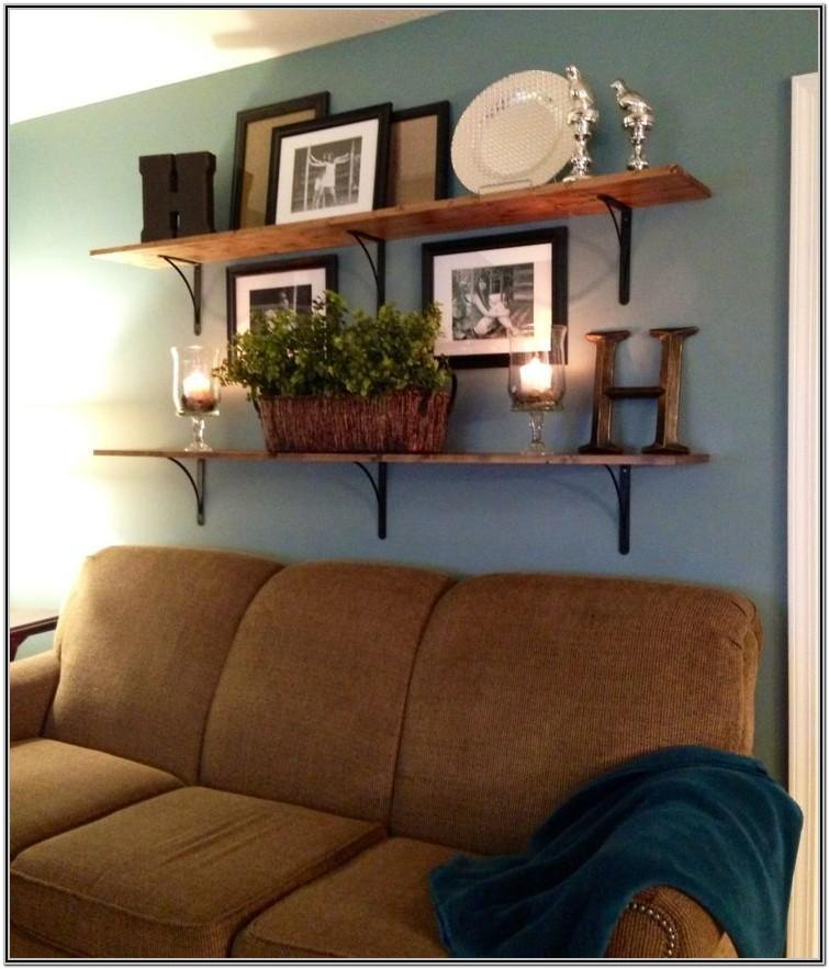 Wooden Wall Shelves Living Room Designs