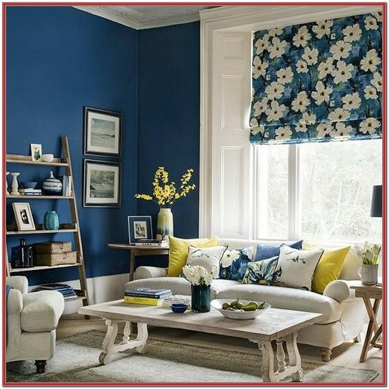 Yellow And Blue Living Room Curtains