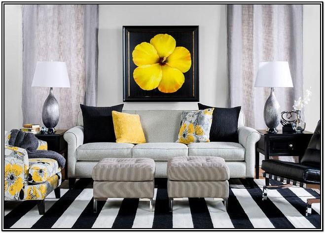Yellow Black And Gray Living Room Ideas
