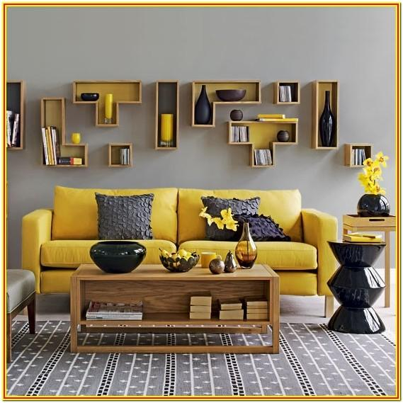 Yellow Gray And Black Living Room