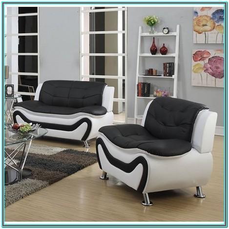 2 Piece Black Living Room Set